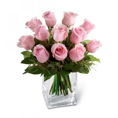 Pink Rose Bouquet in Vase to Philippines
