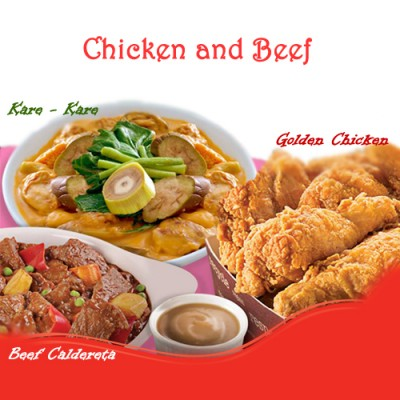 Chicken and Beef Meal Goldilocks Philippines