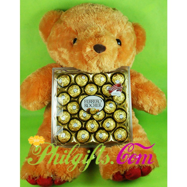Bear with 24pcs Ferrero Rocher