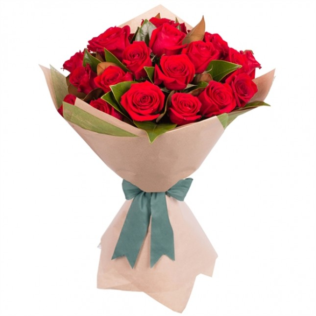24 STEMMED RED ROSE BOUQUET