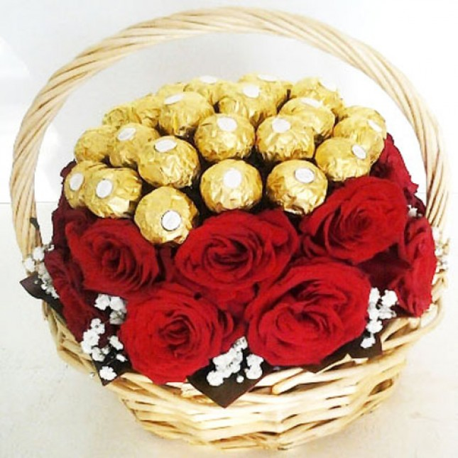 Ferrero and Rose Basket