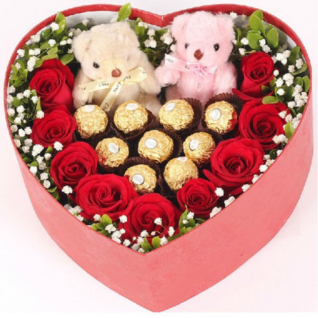 Bears, Flowers and Ferrero Heart