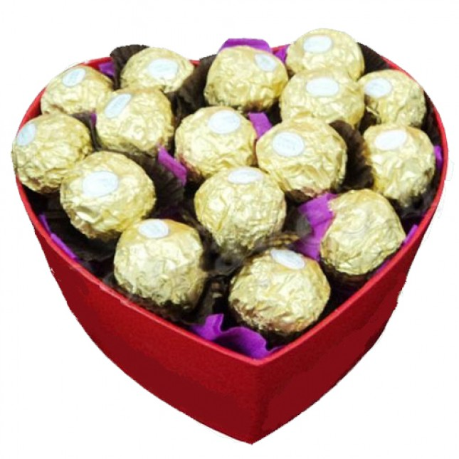 Ferrero in Heart Box