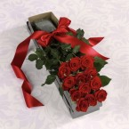 Dozen Roses in a box