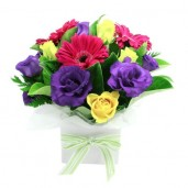 Colorful Seasonal Flowers Arrangement