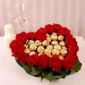 Red Carnation with Ferrero Chocolate