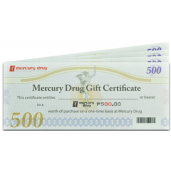 Mercury Drug GC (500 Pesos)